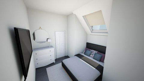 Attic Room  - Modern - Bedroom - by El2002