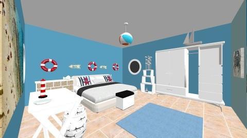 Beach themed bedroom - Bedroom - by ABM