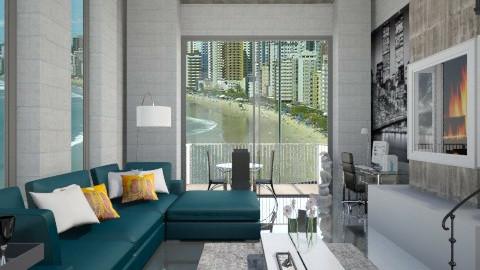 Concreto - Living room - by Roberta Coelho