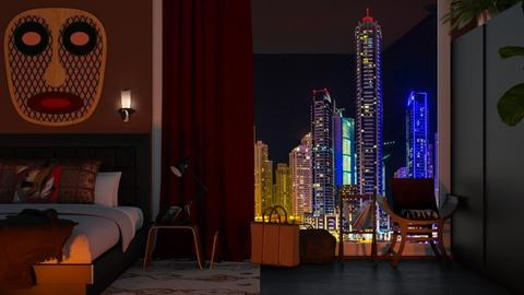 Night In Dubai - Bedroom - by Kendal Peterson