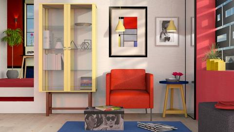 Piet Mondrian Inspired - Modern - Living room - by Sally Simpson