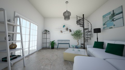 Living room - Minimal - by krisztinaa
