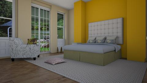Yellow Bedroom - Bedroom - by Sue Bonstra