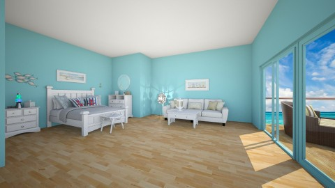 Blue Beach Room - Glamour - Bedroom - by deleted_1506278320_Naomi Soden
