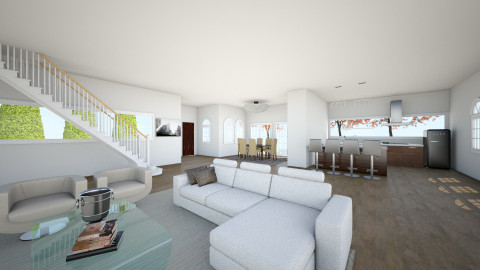 Penthouse livingroom 2 - Living room - by HanneLenaerts