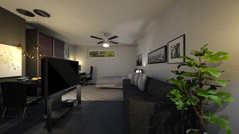 Bed and Hangout Room3 - Minimal - Bedroom - by ayudewi382