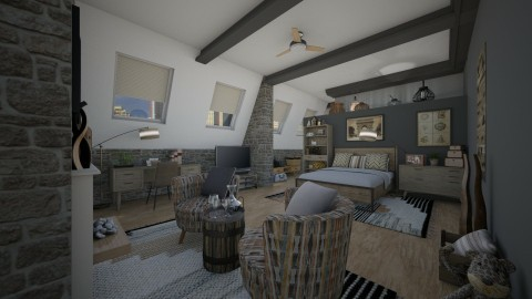 Walters neutrals - Rustic - Bedroom - by Lackew