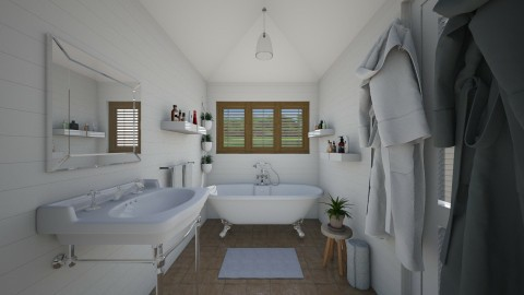 White Bath - Eclectic - Bathroom - by Laurika