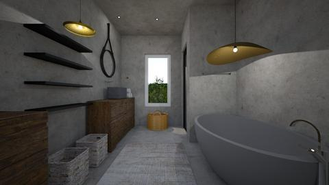 modern bath - Bathroom - by TColl3