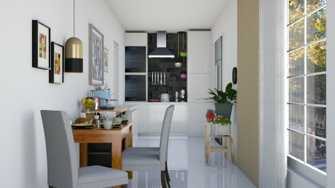 Small Apartment Kitchen - Modern - Kitchen - by ayu DR