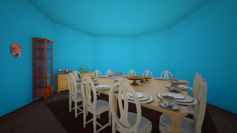Blue dining - Dining room - by KB DAVIS