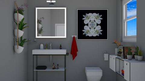 Gray Bath2 - Bathroom - by VeroDale
