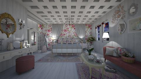Shabby Chic Bedroom - by Themis Aline Calcavecchia