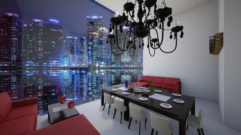 City Banquet - Glamour - Dining room - by bleeding star