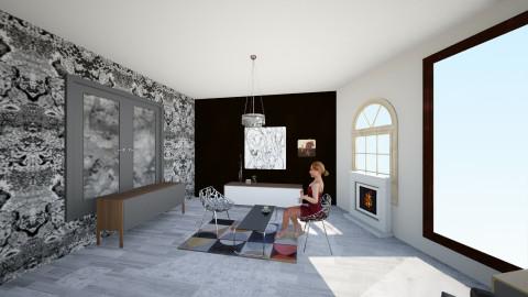 blackandwhite - Living room - by Kristin_m