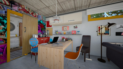 Basement Kitchen_2 - Eclectic - Kitchen - by evahassing