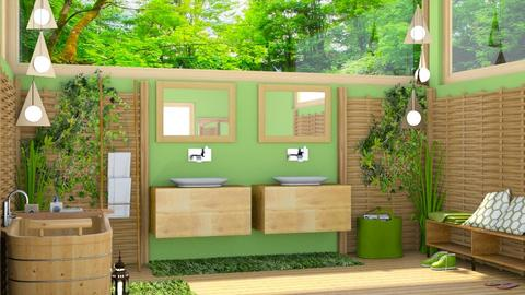 JUNGLE BATHROOM - Bathroom - by rasty