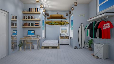 beach inspired room - Bedroom - by jenna soerens