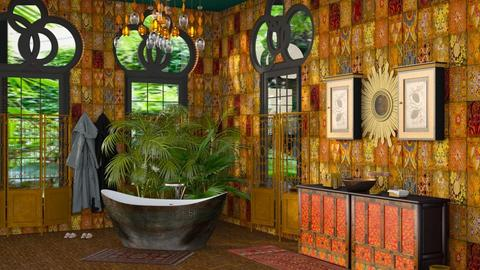 bohemian bathing - Global - Bathroom - by kitty