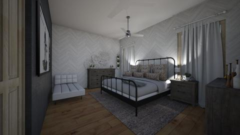 Guest Country Bedroom - Rustic - Bedroom - by machannel12