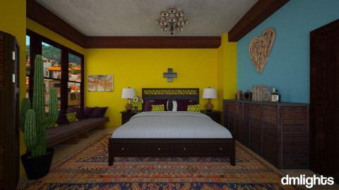 Mexico - Bedroom - by DMLights-user-984050