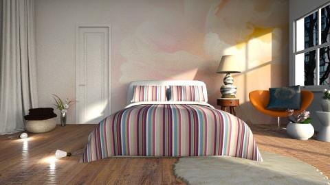 peonies bedroom - by Inokentijroom