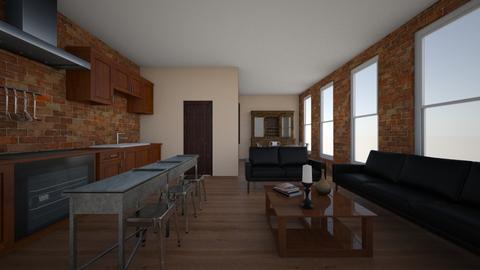 Loft Living Space - Kitchen - by aviciedo