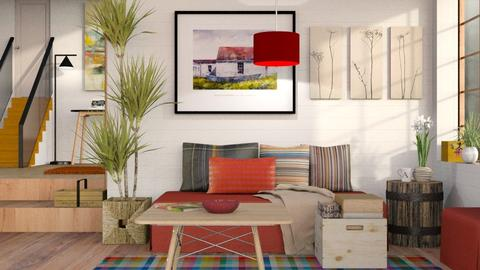 A Red Touch - Eclectic - Living room - by Sally Simpson