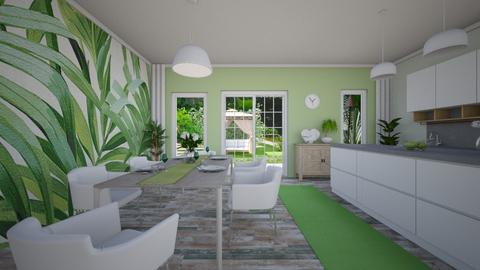 Green vibes - Kitchen - by evelyn19