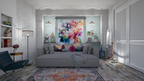 modern playful bedroom - Bedroom - by mari mar