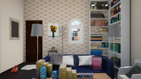 stylish movie set design  - Modern - Living room - by jana krstic