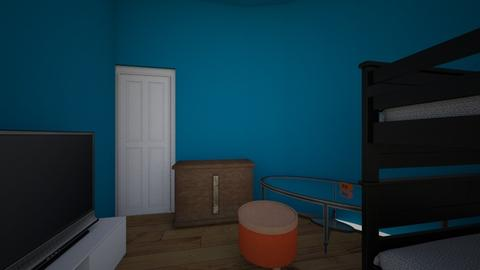 blue and orange contest - Minimal - Bedroom - by watermelon pug armour