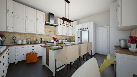 open kitchen - Country - Kitchen - by renne