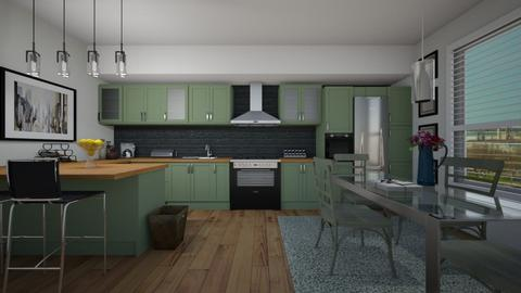 GreenKickenDining - Kitchen - by Nard8A