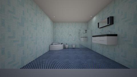 Blue Bathroom - Rustic - Bathroom - by jaiden2006