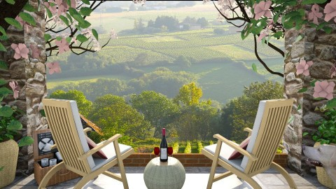 Design 99 Tuscan Vineyard - Garden - by Daisy320
