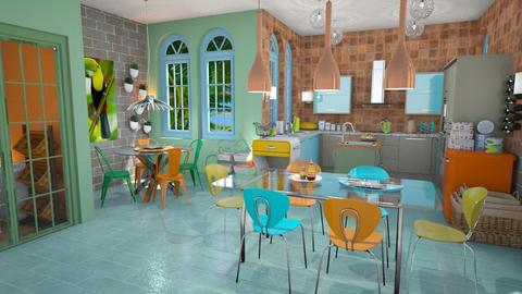 color wheel kitchen - Kitchen - by Moonpearl