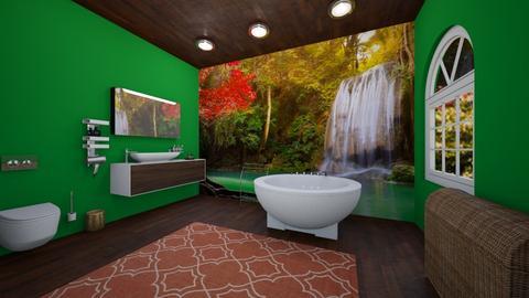 Sweet Tranquility - Bathroom - by Nikki Lipstick