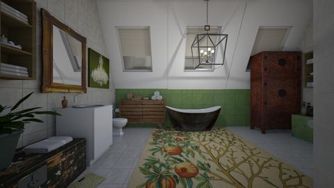 attic bathroom - Country - Bathroom - by kla