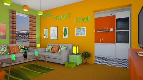 Orange Carpet - Living room - by SammyJPili
