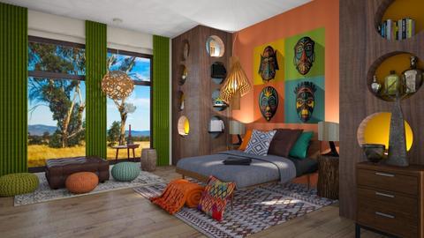 Tribal playful bedroom - by ZsuzsannaCs