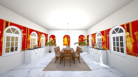 triclininium - Dining room - by charlottesdesigns