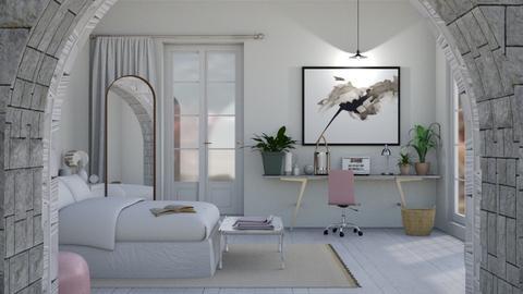 Marble Bedroom - Modern - Bedroom - by ajalahgriggs