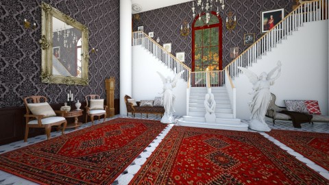 Old Mansion Entrance - Vintage - by DeborahArmelin
