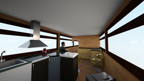 Buzz Motorhome_Office_Bar - Country - Office - by weeevil