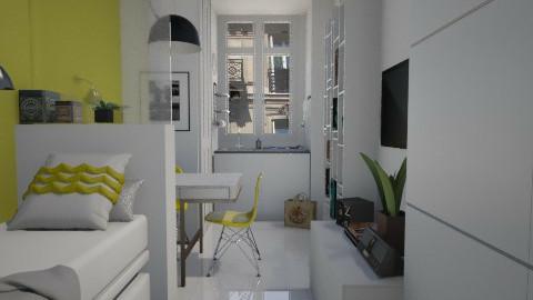 Paris tiny room - Bedroom - by monikica
