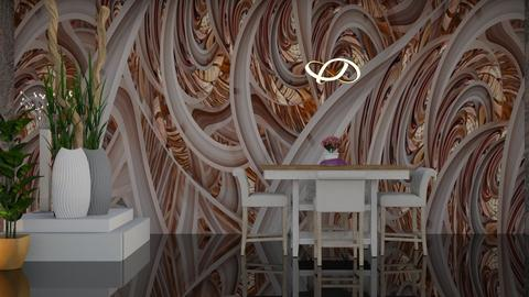 3D Geometry Wall Mural  - Dining room - by Sue Bonstra