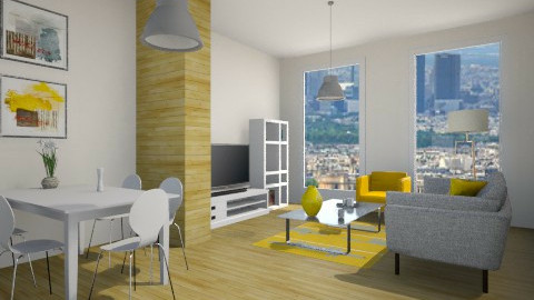 city appartment - Living room - by teen bedroom