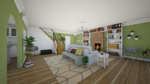 My Greenest Room - Living room - by LaughingDonut
