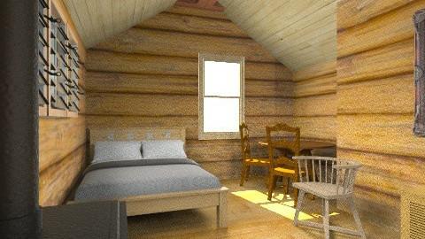 Cabin - Rustic - Bedroom - by yourjieee